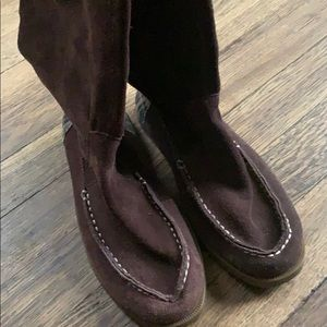 Sperry women's top slider brown boots size 6